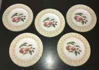 "(5) Johnson Brothers FRUIT SAMPLER 8 1/4"" Salad Plates"