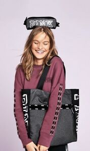 Victoria's Secret PINK Grey Tote Bag With Small Pouch