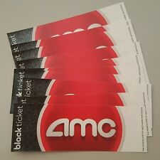 Ten (10) Amc Black Movie tickets - No Expiration Date - Fast Free Shipping