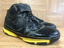 RARE🔥 Nike Air Zoom Kobe II 2 Black Leather Varsity Maize Gold Sz 18 316022-001