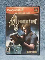 Resident Evil 4 (Greatest Hits) (Sony PlayStation 2, 2005) CIB, TESTED