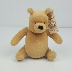 """Gund Disney Classic Winnie the Pooh Bear Plush Small 6"""" with Rattle and Tag"""