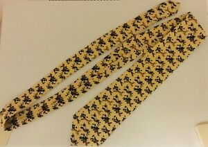NEW Holland&Holland London Hunting Dogs Beige 100% Wool Tie Handmade in UK RARE