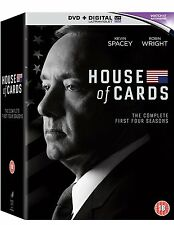 """HOUSE OF CARDS COMPLETE SEASON 1-4 KEVIN SPACEY DVD BOX SET 16 DISCS R4 """"NEW"""""""