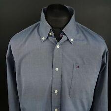 Tommy Hilfiger Mens 2 Ply Shirt XL Long Sleeve Blue Regular Fit No Pattern
