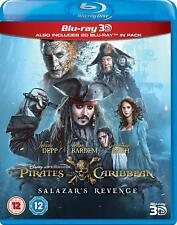 Pirates of the Caribbean Salazar's Revenge 3D + 2D Blu-Ray BRAND NEW