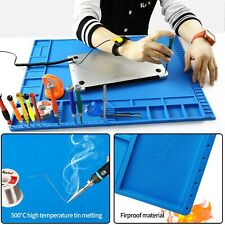 Large Soldering Iron Station Mat Silicone Laptop Repair Mat Magnetic Heat Insula