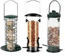 More details for wild bird hanging nut seed feeder peanut feed fat ball feeders garden new