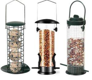Wild Bird Hanging Nut Seed Feeder Peanut Feed Fat Ball Feeders Garden New