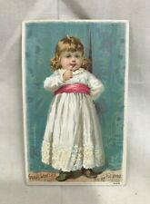 Great Orig. Victorian 1893 Trade Card 2-Sided Knapp's Root Beer Extract
