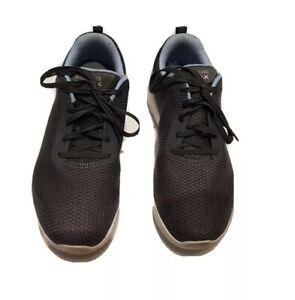 SKECHERS GO WALK GOGO MAX Womens Size 9 grey lace up textile upper balance
