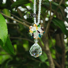 Crystal Prism Suncatcher Drop Pendant Wedding Home Decor Gift with Box Ornament