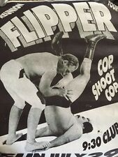 Flipper reunion tour w/ Cop Shoot Cop vintage poster flyer 9:30 Club 7/29/1990