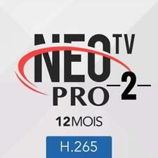 NEO PRO 2 OFFICIEL CODE 12 MOIS (smart tv - android) livraison rapide 5 minute
