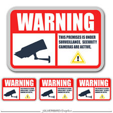 Camera Surveillance System Security / Video / Warning / 4 total decals / sticker
