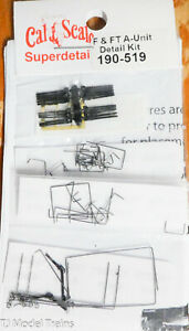 Cal-Scale HO #519 F & FT A-Unit Detail Kit (Plastic/Brass/Metal, Parts)