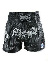 Sandee Unbreakable Muay Thai Shorts Black Martial Arts Training Trunks