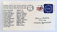 US ASTRONAUT Ellen Ochoa signed 23 Space Shuttle Astronauts Training - RARE