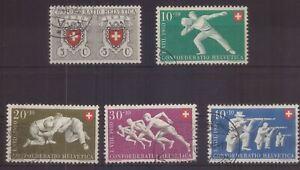 Schweiz 545-49 gestempelt