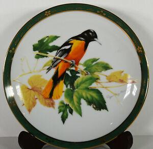 "8"" NIB 1990 Baltimore Oriole Birds Roger Tory Peterson Porcelain Plate Danbury"