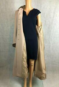 Klass Collection Stylish Faur Animal Print Collar Maxi Overcoat -UK 8 EU 34