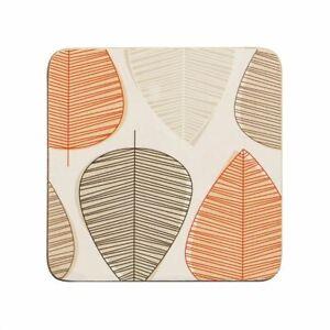 Orange Leaf Set Of 4 Coasters