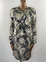 PAUL SMITH Black Label Italian Cloth Gold Ivory & Grey Cowl Neck Dress & Jacket