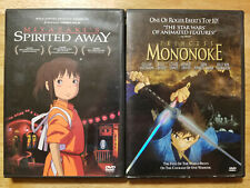 Spirited Away Princess Mononoke Studio Ghibli anime Dvd lot