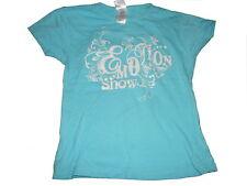 C & A tolles T-Shirt Gr. 122 / 128 hellblau mit Druckmotiv !!
