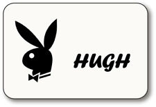 HUGH HEFNER PLAYBOY NAME BADGE HALLOWEEN PROP PIN BACK