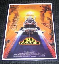The Road Warrior Mad Max Mel Gibson 11X17 Original Movie Poster