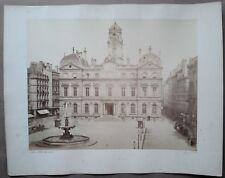 """Grande PHOTOGRAPHIE: Edouard BALDUS  - """"LYON, Hôtel de Ville"""" 1860 - (69 RHÔNE)"""