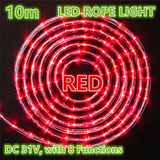 10M 240 LEDs Rope Lights RED 8 Functions Outdoor Christams Wedding Party