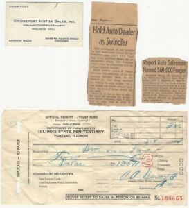 1924 Chicago Automobile Dealer Sales Fraud Ephemera - Fake Auto Contracts