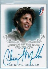 CHERYL MILLER 2007 Rittenhouse WNBA Legends of the Game Auto Insert Card