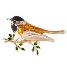 Enamel Bird Brooch Pin Crystal Rhinestone Animal Brooch Pin Clothes JewelryNT