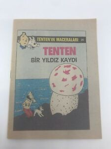 THE ADVENTURES OF TINTIN #20 1980s Turkish Comic Book VERY RARE Georges Remi