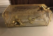 VINTAGE MID CENTURY METAL KLEENEX TISSUE BOX HOLDER