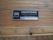 Hummer Metal Display Plaque Models & Diecast 1/43 1/24 1/18 H1 H2 Maisto