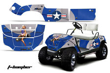 Yamaha Golf Cart Graphic Kit Wrap Parts AMR Racing Decal 1995-2006 T-BOMBER BLUE