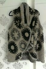 ladies grey knitted wrap/waistcoat - one size - NEW