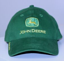 vtg John Deere Owners Edition Ball Cap Hat Green One Size Adjustable Embroidered