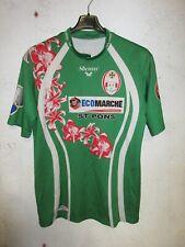 Maillot rugby XV DU HAUT LANGUEDOC porté n°1 moulant shirt Shemsy 2XL XXL
