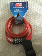 Squire 216 Combination Bike Security Cable Coil Lock 1800mm Long x 10mm Diameter