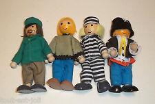 lot de poupées pour maison de poupée, jouets, articulés, bois et tissu  lot1*G15
