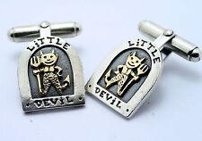 Nick Hubbard  little devil  9ct gold & silver cufflinks