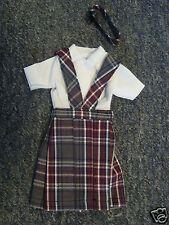 *NIP* 3 pc SCHOOL UNIFORM Dress Jumper Outfit Clothes for Barbie doll PLAID #34
