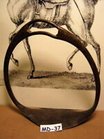Antique and Rare 1700's Era Single Saddle Stirrup That Had a Very Bad Accident