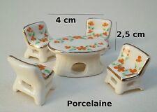 salon en porcelaine pour vitrine, collection, décoration, miniature S11-01
