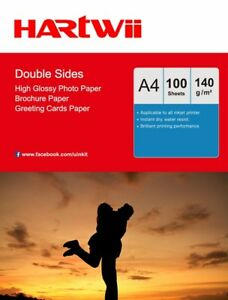 A4 140Gsm Double Sided Photo Paper High Glossy Inkjet Paper - 100 Sheets Hartwii